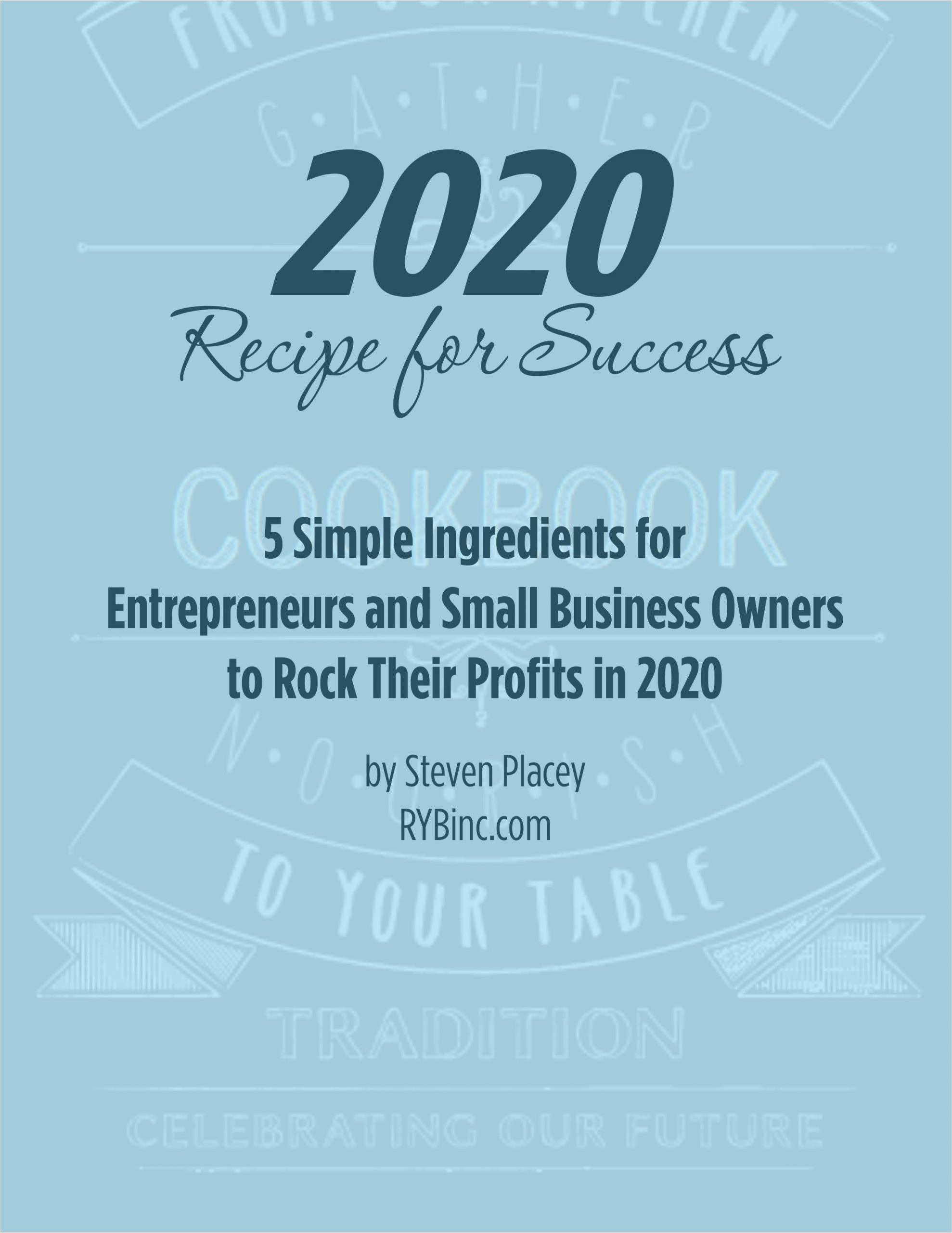 RYB - 2020 Recipe for Success Cover Page