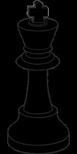 king, chess, black